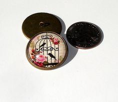 Birds Roses Cage Glass Dome Button handcrafted collectible shank sew or pin on  | eBay