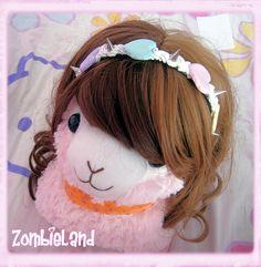 Kawaii headband 4 colors: - babyblue - babypink x mint - mint x vanille - multicolor (babypink x mint x vanille x lilac)