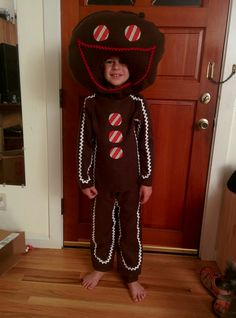 Diy Cheap No Sew Gingerbread Man Costume From The