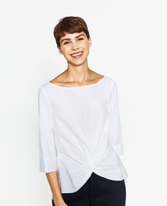 ZARA - WOMAN - KNOT BOATNECK BLOUSE