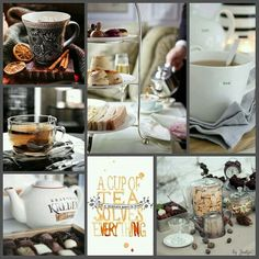A cup of tea. #moodboard #mosaic #collage♡
