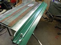"""Sheetmetal Bender by Captainleeward -- Simple sheet metal bender up to 48"""" if you got the muscles. :O) Clamps to the welding table for..."""