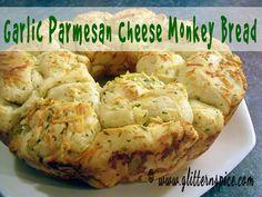 Garlic Parmesan Cheese Monkey Bread | Bread Machine Recipe