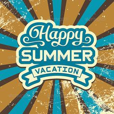 Summer Vacation Vintage Poster - Vectors