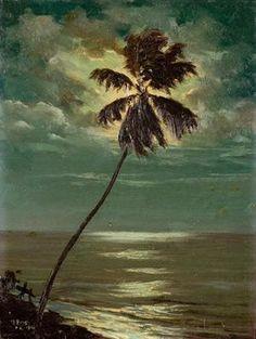 Paisaje Costero (Costal landscape)1926 by Puerto Rican Artist Miguel Pou.
