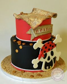 Gateau de pirate en pate a sucre