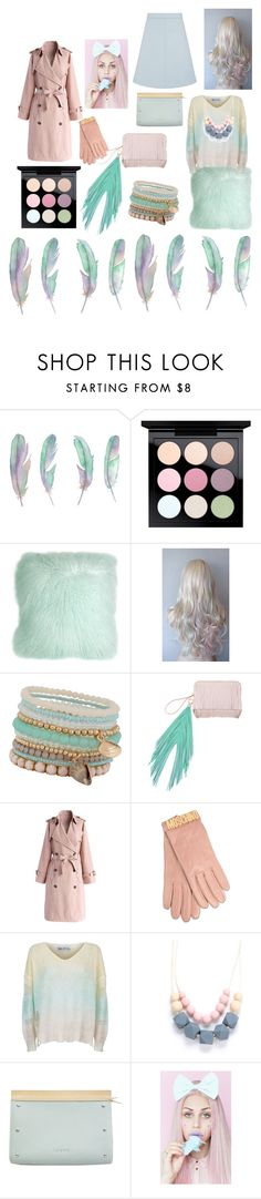 """""""Pastels"""" by sarahcanavan ❤ liked on Polyvore featuring MAC Cosmetics, Pillow Decor, ALDO, The Volon, Chicwish, Moschino, Wildfox, Loewe and Wood Wood"""