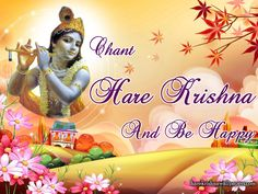 To view Holy Name wallpapers in difference sizes visit - http://harekrishnawallpapers.com/chant-hare-krishna-and-be-happy-artist-wallpaper-007/