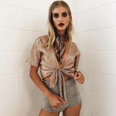 The perf mix of metallic and glitter! Total goodness! ✯ FREEDOM RIDER TIE TOP ✯ www.vergegirl.com