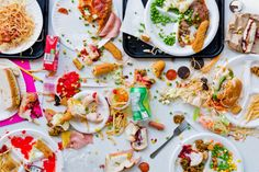 """""""Meals Interrupted"""" depicts a food fight for the photo series shot by Davide Luciano and styled by Claudia Ficca"""