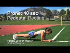 8 week General Strength Progression - Part 2 http://runningtimes.com/Article.aspx?ArticleID=16625  This is meant to be a progressive series. Part 1-5. Start with the first video and master these exercises. When you can regularly do the first series without fatigue, then you can add the exercises in the second video, which are slightly more challenging and so on.