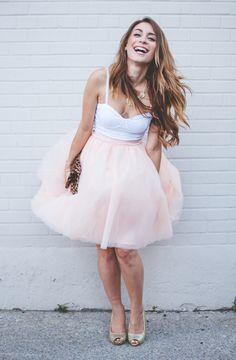 Turning in Tulle Skirt in Peach | Mod Retro Vintage Skirts | ModCloth.com