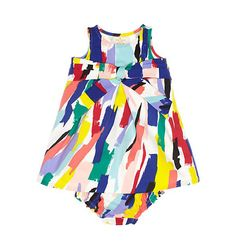 This colorful dress is ideal for your little fashionista.