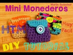 Mini tutorial # 12: monedero Flor vintage a crochet / English subtitles: blooming flower purse - YouTube