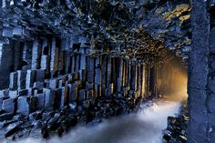 Fingal's Cave was produced by the same tectonic shifting that created Giant's Causeway. (Photograph