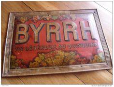Une plaque Byrrh