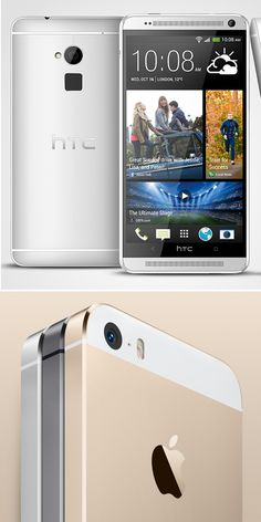 HTC One Max vs. iPhone Two Fingerprint-Scanning Phones, Spec by Spec I am lusting so hard for both of these phones. Would prefer the HTC though. Latest Smartphones, Htc One M8, Mobile News, Mobile Technology, Gadgets And Gizmos, Best Phone, Apple Products, Iphone 5s, Tech Accessories