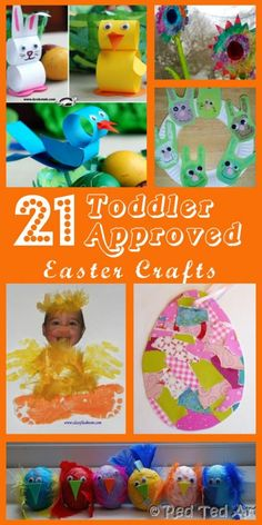 This is a great collection of 21 Toddler Approved Easter Crafts. Will definitely choose one for my next Easter theme in class! Easter Projects, Easter Crafts For Kids, Toddler Crafts, Easter Ideas, Easter Activities, Craft Activities, Preschool Crafts, Spring Crafts, Holiday Crafts