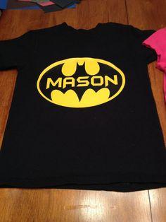 Heat transfer customized name vinyl batman superhero design