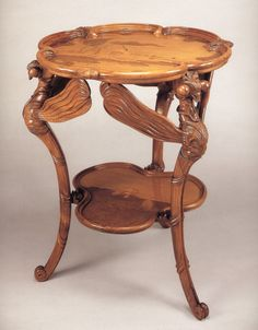 Table, Emile Gallé, deuxième version 1901