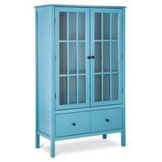 Windham Tall Storage Cabinet with Drawer Teal - ... : Target