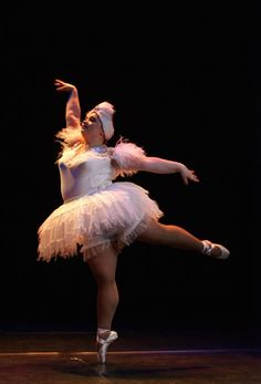 This dancer is part of The Big Ballet, a troupe of dancers from Russia.