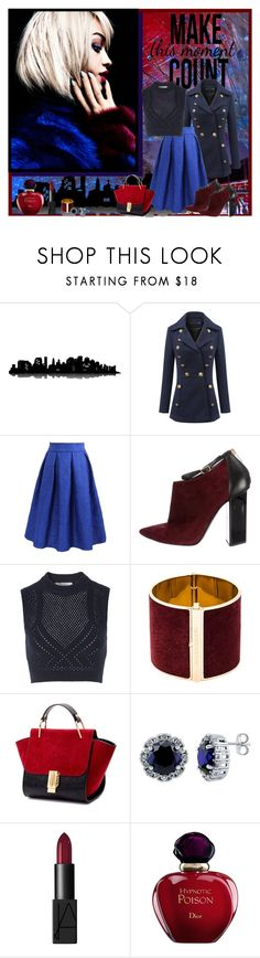 """""""This moment"""" by tushiszofran ❤ liked on Polyvore featuring Universal Lighting and Decor, Jimmy Choo, T By Alexander Wang, Dsquared2, BERRICLE, NARS Cosmetics, Christian Dior, vintage, women's clothing and women"""