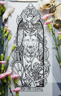 18 Trendy ideas for eye tattoo ideas sketches wolves Rune Tattoo, Norse Tattoo, Yggdrasil Tattoo, Tattoo Outline, Tatoo Art, Tattoo Sketches, Tattoo Drawings, Wolf Sketch, Sketch Ink
