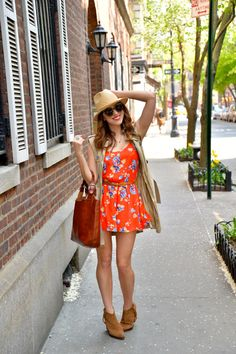 Street style tip of the day: Floral romper via @stylelist