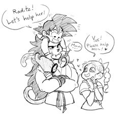 AU where Raditz is sent to Earth with his baby bro or something.
