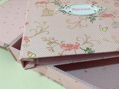 Caixas e álbuns forrados em tecido 100% algodão - Helena Lima