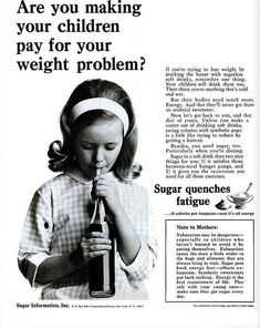 Sugar quenches fatigue, brought to you by the sugar industry.
