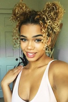 Cute Hairstyles for Curly Hair with Buns Picture 1 curly hair styles 24 Easy and Beautiful Hairstyles for Curly Hair Easy And Beautiful Hairstyles, Easy Hairstyles For Long Hair, My Hairstyle, Braided Hairstyles, Curly Haircuts, Black Hairstyles, Trendy Hairstyles, Wedding Hairstyles For Curly Hair, Natural Curly Hairstyles