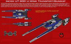 UT-60D U-Wing Transport-Gunship ortho [1][New] by unusualsuspex.deviantart.com on @DeviantArt