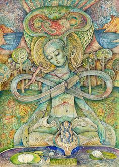 "Veda Ram ""Рай"" Wicca, Magick, Pagan, Masculine Art, Spiritual Images, Religious Pictures, Spirited Art, Reproduction, Visionary Art"