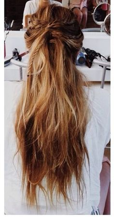 Boho/hippie chick with gorgeous ombre hair with braiding...love it!