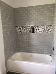 I Love The Shelf All The Way Across, But In A Different Accent Tile Hall