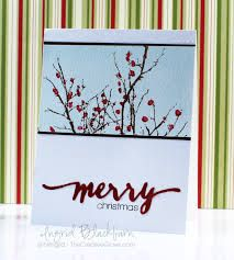 Tutorial at the creative grove. Berry Bevy: PB, watercolor wash, color w/ marker and spritz, winter Christmas Berries, Christmas Tree Cards, Winter Berries, Winter Christmas, Christmas Crafts, Holiday, Scrapbooking, Scrapbook Cards, Xmas Cards To Make