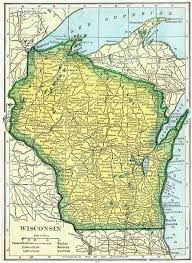 12 Best Wisconsin Maps images | Earth Science, Vintage cards