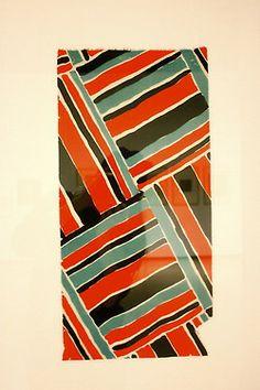 sonia Delaunay bold fashion prints
