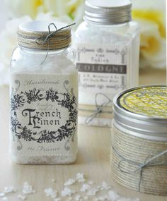 Dress up vintage jars & tins with Stampington's canvas patches.
