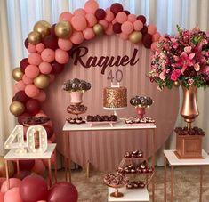 40th Bday Ideas, 40th Birthday Decorations, Balloon Decorations Party, Wedding Decorations, Birthday Party For Teens, 65th Birthday, Birthday Party Themes, Fifty Birthday, 21st Party