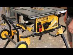 DeWalt DWE7491RS Jobsite Table Saw - YouTube