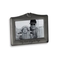 Malden® My Heart Belongs to Papa 4-Inch x 6-Inch Frame - BedBathandBeyond.com