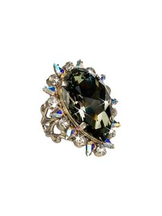 Teardrop Crystal Cocktail Ring in Evening Moon by Sorrelli - $100.00 (http://www.sorrelli.com/products/RCR13ASEM)