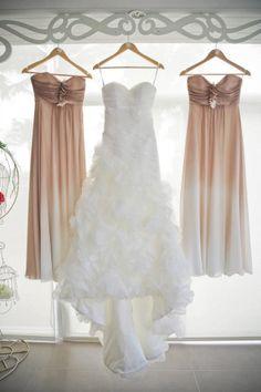 Organza Wedding dress with  rosettes