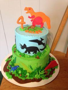 Dino cake for Caleb