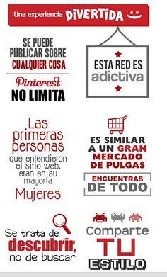 Infografía en español que muestra algunas virtudes de Pinterest