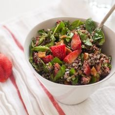 Strawberry, Quinoa & Spinach Salad
