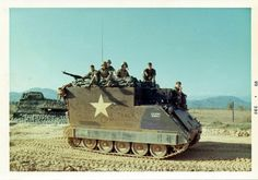 command vehicle with the Field Artillery in Vietnam (Noel Schwartz collection) North Vietnam, Vietnam War, Army Vehicles, Armored Vehicles, Photo Vietnam, Sheridan Tank, We Are The Mighty, Brown Water Navy, Tank Armor